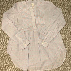 Gap Maternity Pinstripe Button-Up Blouse
